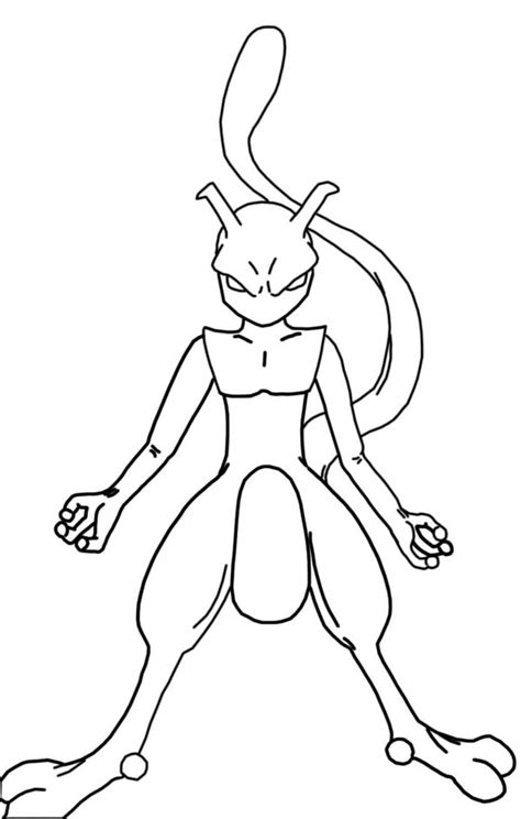 mewtwo coloring pages az coloring pages