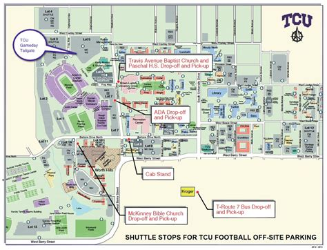 university of texas stadium map tcu gameday tailgate