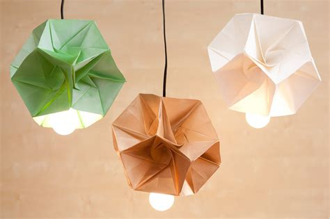 Origami Light Fixture - these diy origami l shades are our new obsession brit