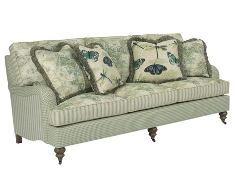traditional sofas and loveseats traditional sofa with english arms and turned legs by