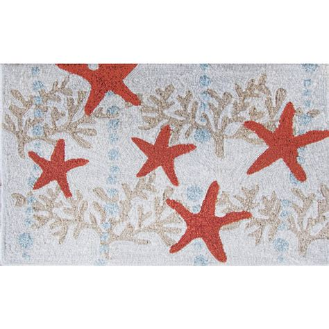 coral accent rug starfish and ocean coral accent rug
