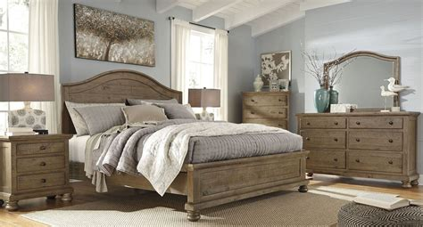 Trishley Bedroom Set by Trishley Light Brown Cal King Panel Bed B659 58 56 94