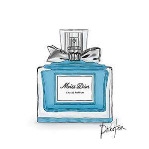 Miss Perfume Bottle steelblue miss perfume 4 perfumes illustrations