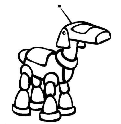 robot dog coloring page robot coloring book coloring home