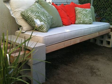 cinder block bench diy outdoor bench in less than an hour