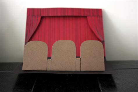 film pop up movie theater pop up card made for a movie lover in my