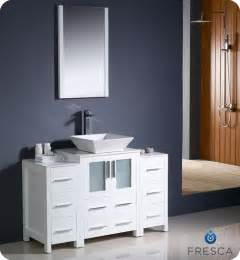 Contemporary White Bathroom Vanity » Home Design 2017