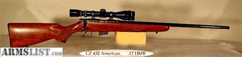 cz usa cz 452 american rifle 17 hmr 225in 5rd turkish armslist for sale cz 452 american 17 hmr with scope