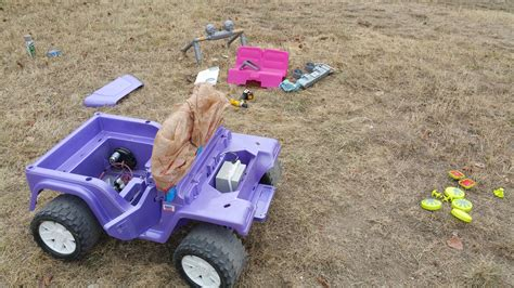 purple barbie jeep heres my power wheels jurassic park jeep submission album