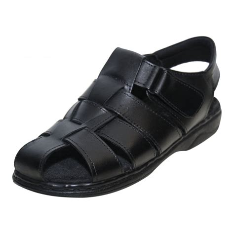mens leather summer sandals moza x mens leather velcro gladiator summer sandals s footwear from wren footwear uk