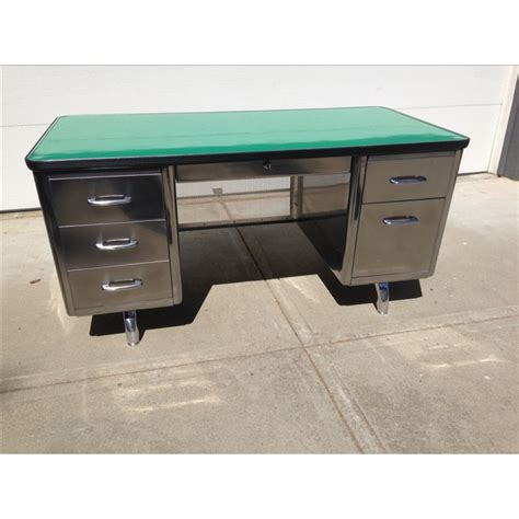 steel tanker desk for sale vintage all steel furniture co tanker desk chairish