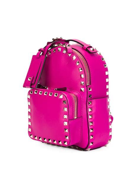 Glamorous Mini Pocket Backpack by Lyst Valentino Mini Rockstud Backpack In Purple