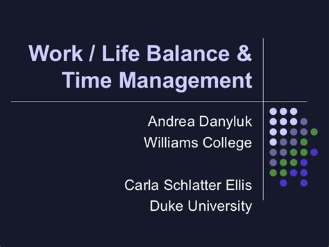 How To Balance Time Work School Mba by Work Balance And Time Management