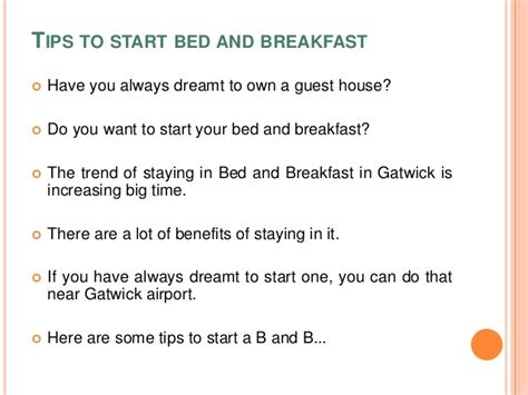 tipping at bed and breakfast tips to start bed and breakfast