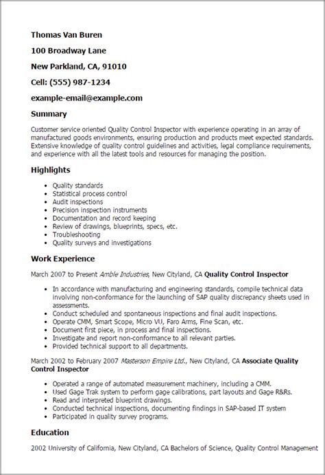 quality inspector cover letter quality inspector resume template best design