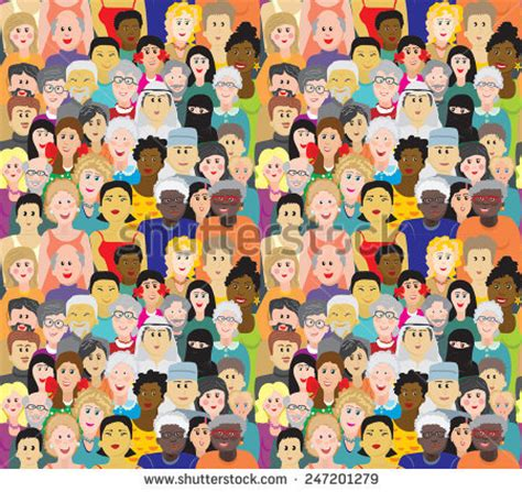 english pattern races seamless vector pattern crowd people different stock