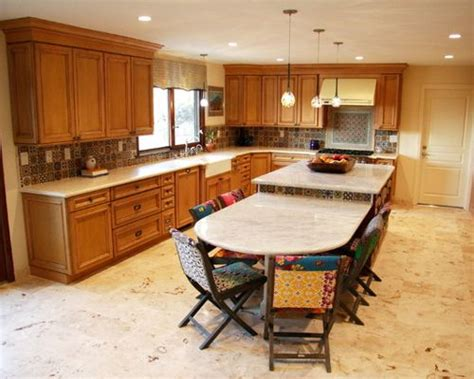 kitchen island with attached table kitchen island attached table houzz