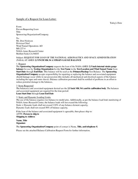 Sle Of Loan Request Letter To Company Business Loan Request Letter Free Printable Documents