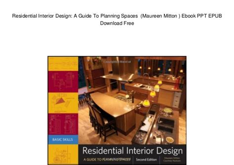 home interior design ebook free download residential interior design a guide to planning spaces