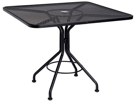 Umbrella For Bistro Table Woodard Mesh Wrought Iron 36 Square Bistro Table With Umbrella 280029