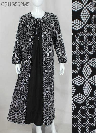 Gamis Cardigan gamis cardigan hitam putih klasik gamis batik murah