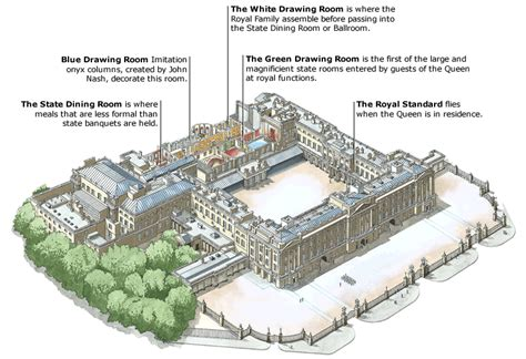 inside buckingham palace floor plan credo reference