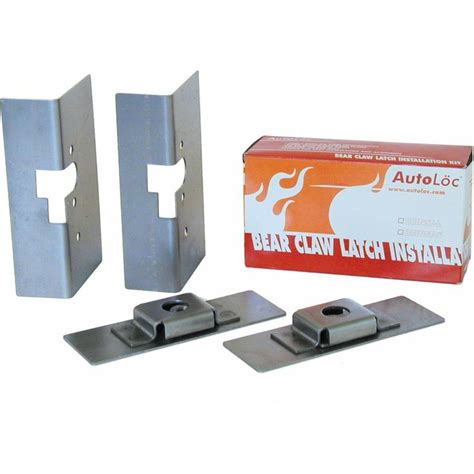 Door Latch Installation Kit by Autoloc Autbcinstl Large Claw Door Latch Install Kit