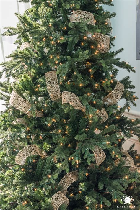 how to put vertical ribbon on christmas tree how to decorate a tree with ribbon kelley nan