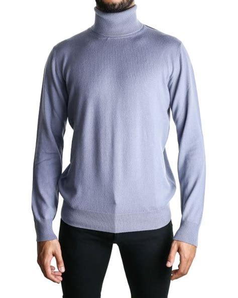 light blue turtleneck mens lanvin light blue turtleneck sweater in blue for men lyst
