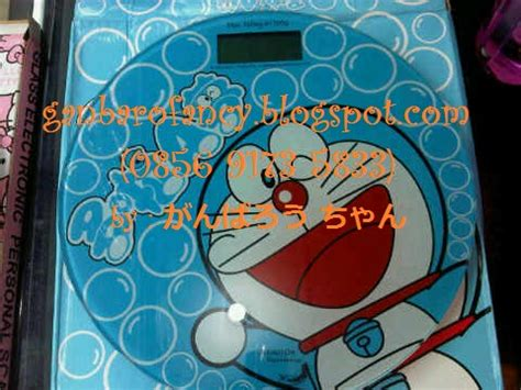 Timbangan Berat Badan ganbaro fancy and unique weight scale digital doraemon
