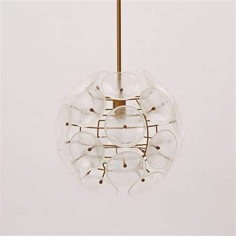 west elm pendants glass disc round pendant west elm
