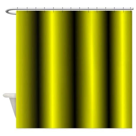 yellow stripe shower curtain black and yellow stripe shower curtain by leatherwooddesign
