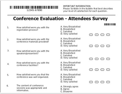 seminar survey template formreturn for conferences