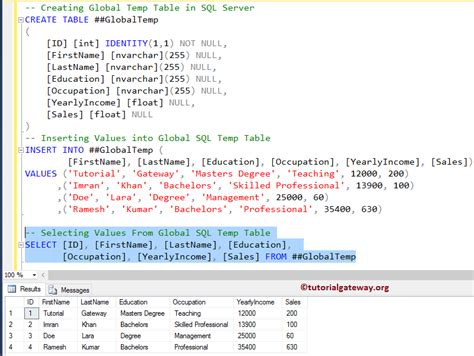 sql tutorial query multiple tables temp table in sql server