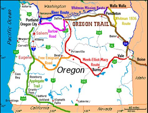 map of the oregon trail route in 1849 gold was discovered in california and at ogden utah the oregon trail branched south to