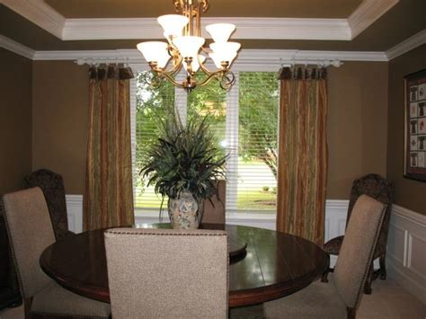 dining room window treatment custom window treatments traditional dining room