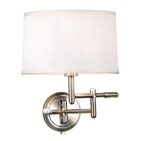 Home Decorators Lamps home decorators collection 1 light white wall pivoter