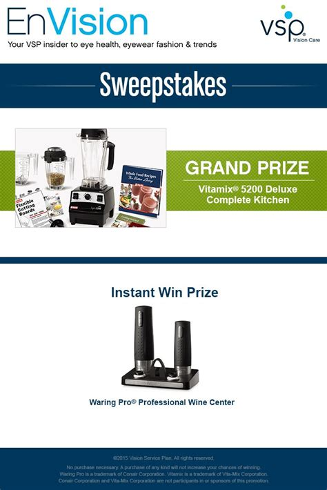 Win Our Giveaway by Enter Vsp S Envision Sweepstakes Today For Your Chance To