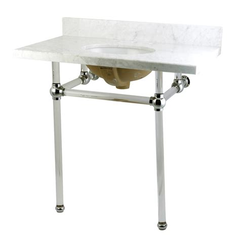 carrara marble console sink fauceture kvpb36ma1 templeton carrara marble bathroom