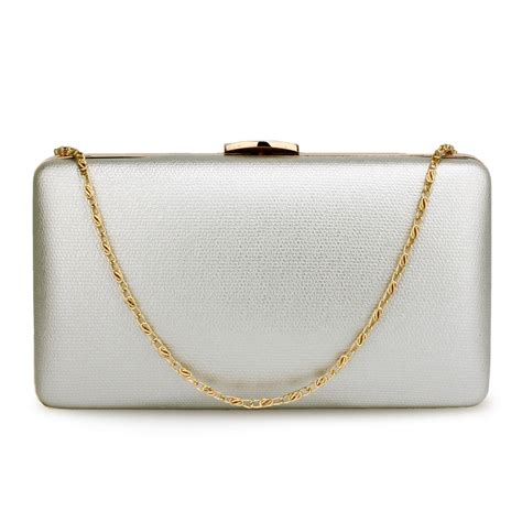 Gold Silver Clutch agc00351 silver evening clutch bag with gold metal work