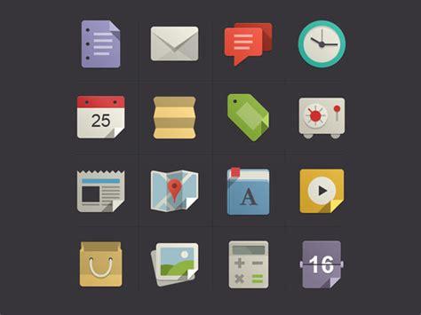 design ui icon beautiful exles of flat icons design designmodo