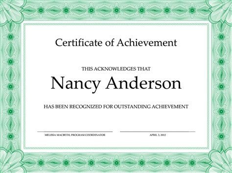certificate of accomplishment template free certificate of accomplishment free certificate