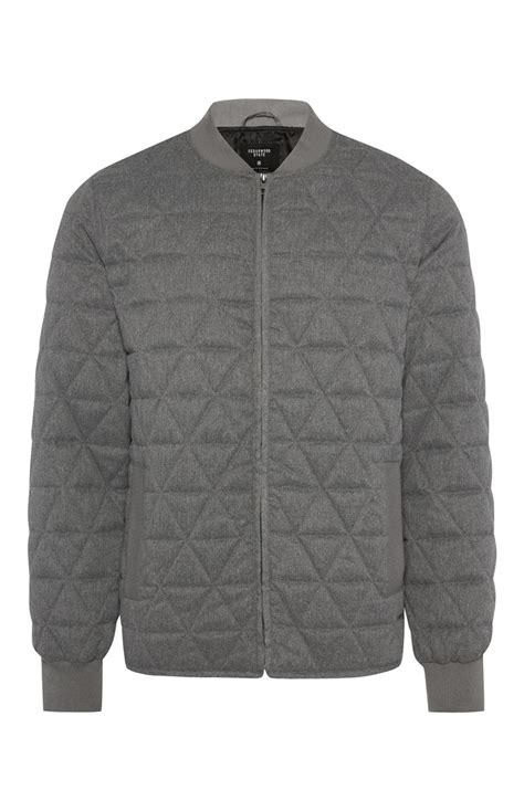 Primark Quilted Jacket by Grey Quilted Zip Through Jacket For Handsome Primark