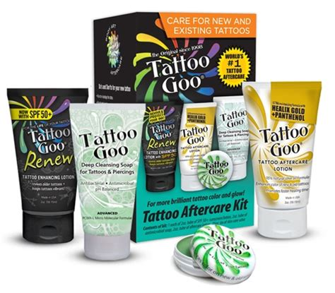 tattoo aftercare brands 4 in 1 tattoo goo aftercare kit healing protection ebay