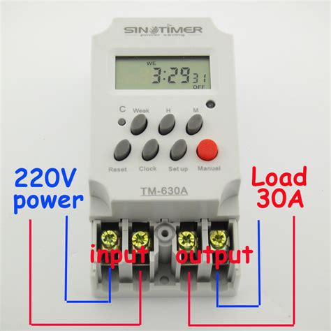 digital timer switch wiring diagram how to put a timer on