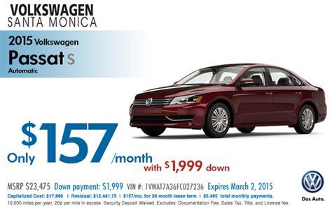 volkswagen lease deals los angeles new 2015 volkswagen lease specials santa los