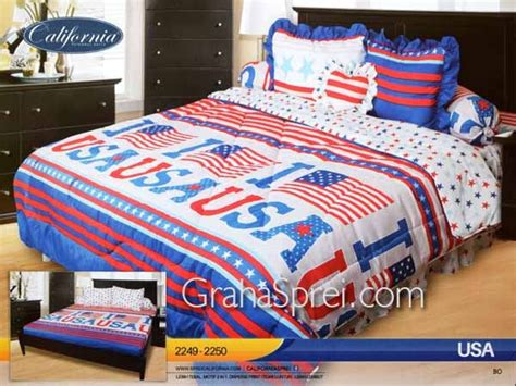sprei california usa 180x200 graha sprei