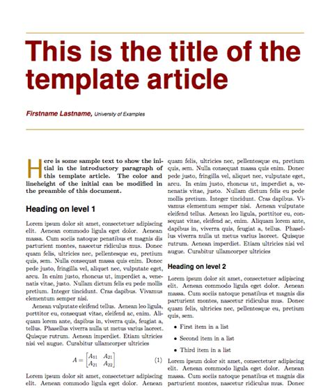 best photos of magazine article layout template