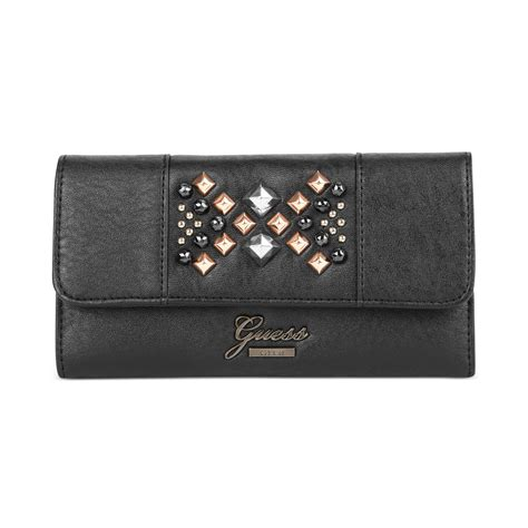 Can You Guess All Four Designer Clutches by Guess Handbag Jinan Slim Clutch Wallet In Black Lyst