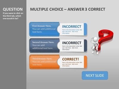 Quiz Tabs A Powerpoint Template From Presentermedia Com Choice Template Powerpoint